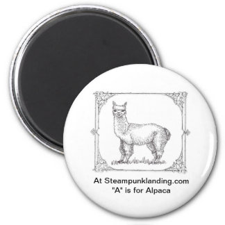 """First in the """"ANIMALS of Steampunk Landing"""" Set Magnet"""