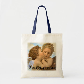 First Kiss by Bouguereau, Vintage Victorian Angels Bags