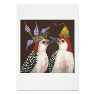 First kiss flat card 13 cm x 18 cm invitation card