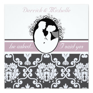 First Kiss Lavender Customized Wedding Invitation