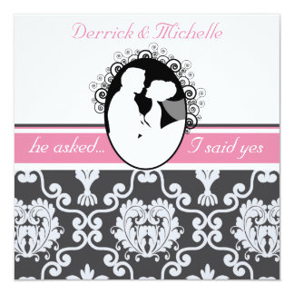First Kiss Pink Customized Wedding Invitation