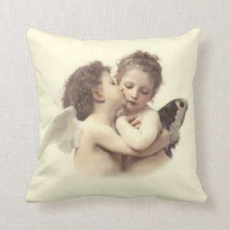First Kiss Romantic Throw Pillow