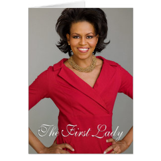 First Lady Michelle Obama Card