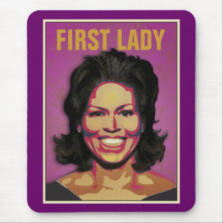 First Lady Michelle Obama Mouse Pad