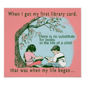 First Library Card Poster