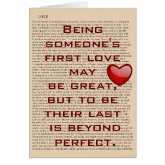 First Love - greeting card