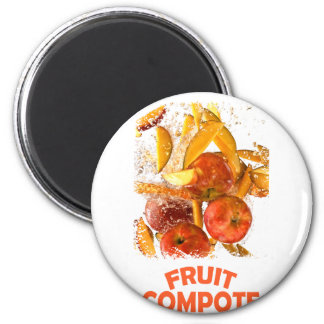 First March - Fruit Compote Day - Appreciation Day 6 Cm Round Magnet