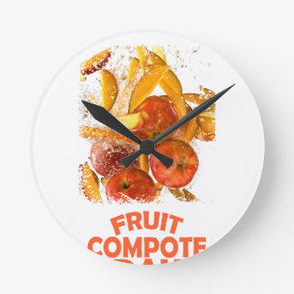 First March - Fruit Compote Day - Appreciation Day Round Clock