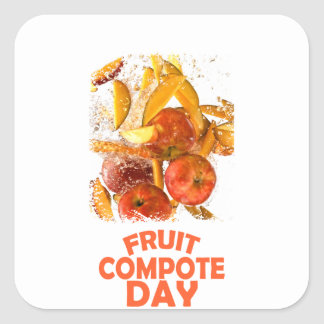 First March - Fruit Compote Day - Appreciation Day Square Sticker