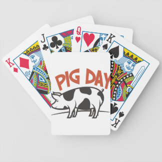First March - Pig Day Bicycle Playing Cards