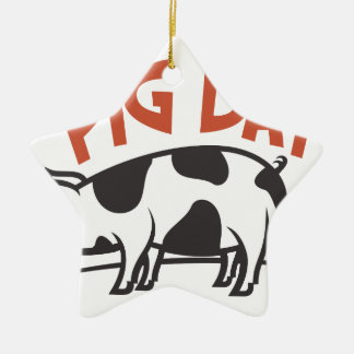 First March - Pig Day Ceramic Star Decoration