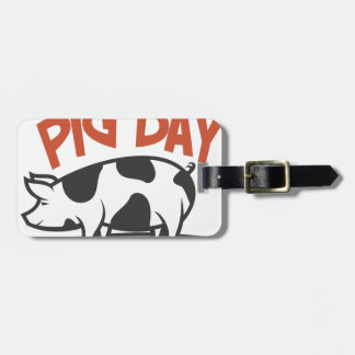 First March - Pig Day Luggage Tag