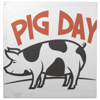 First March - Pig Day Napkin