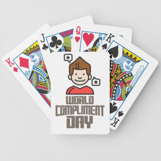 First March - World Compliment Day Bicycle Playing Cards