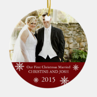 First Married Customisable Christmas ornament