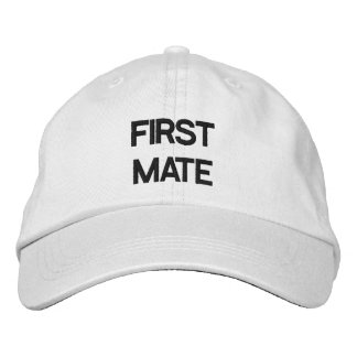 FIRST MATE HAT EMBROIDERED HAT
