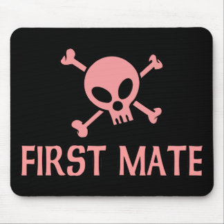 First Mate Pink Skull Mousepad