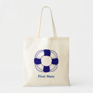 First Mate with Life Preserver Tote Bag