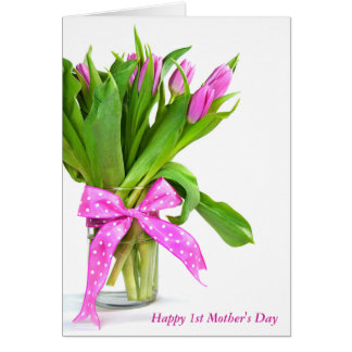 First Mother's Day-tulip bouquet Card