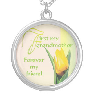 First My Grandmother© Round Pendant Necklace