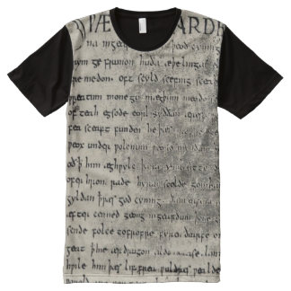 First Page of Beowulf All Over Print Shirt