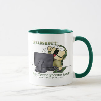 First person shooter geek coffee cup