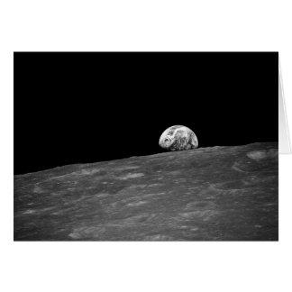 First Photograph of a Earthrise taken by Apollo 8 Greeting Card