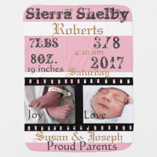 First Photos Film Strip Personalised Baby Blanket