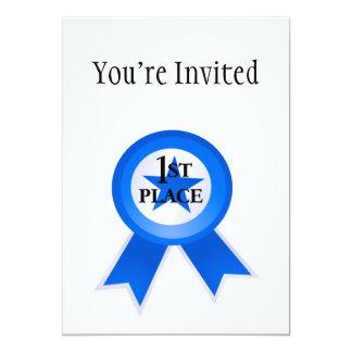 First Place Blue Ribbon 13 Cm X 18 Cm Invitation Card