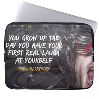 First Real Laugh Laptop Sleeve