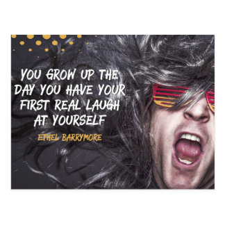 First Real Laugh Postcard