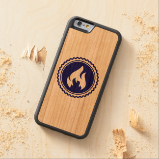 First Responder Firefighter Blue Flame Badge Cherry iPhone 6 Bumper
