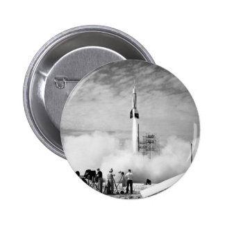"First Rocket Launch, Cape Canaveral, ""Bumper 2"" 6 Cm Round Badge"
