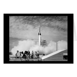 """First Rocket Launch, Cape Canaveral, """"Bumper 2"""" Card"""