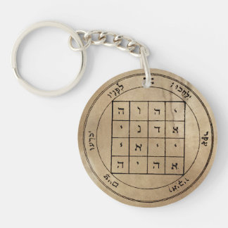 First & Second Pentacles of Saturn Keychain