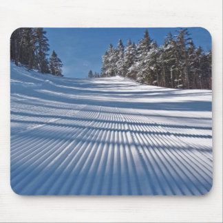 First ski tracks mouse pad