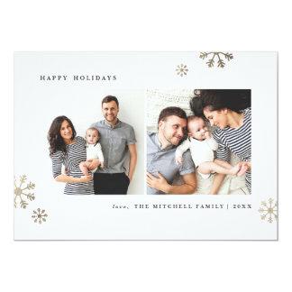 "First snow   5x7"" flat holiday card 13 cm x 18 cm invitation card"