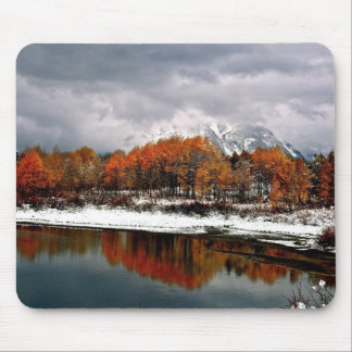 FIRST SNOW AT GRAND TETON MOUSE PAD