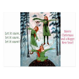 First Snow Fairyphoria Christmas Postcard