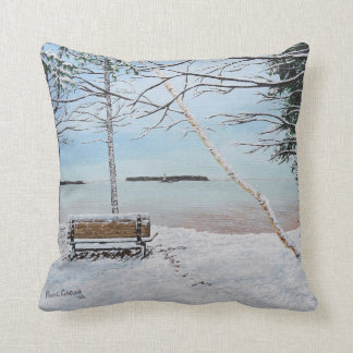 First Snow Fall, Summerside, PEI Throw Pillow