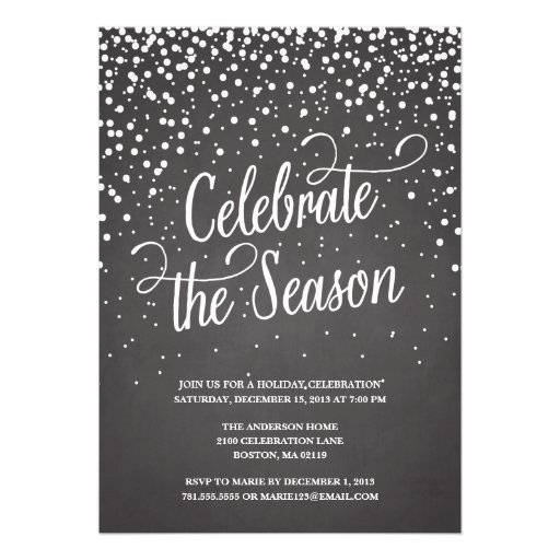 FIRST SNOW | HOLIDAY PARTY INVITATION