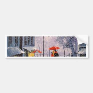 First snow in Paris Bumper Sticker