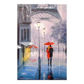 First snow in Paris Stationery