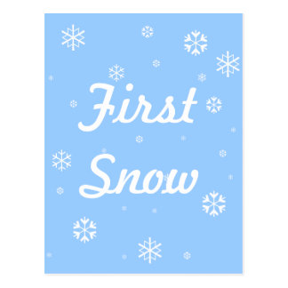 First Snow Snowflakes Postcard