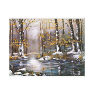 """""""FIRST SNOW"""" STRETCHED CANVAS PRINTS"""