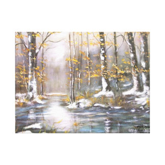 FIRST SNOW WRAPPED CANVAS PRINT