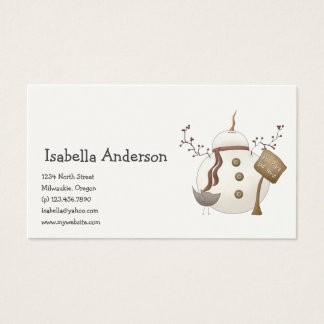 First Snowel · Snowman Business Card