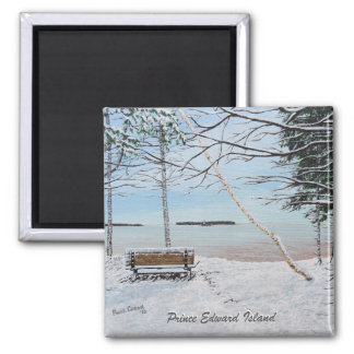 First Snowfall Square Magnet