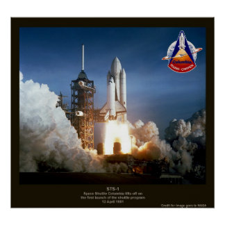 First Space Shuttle launch STS-1 Columbia Poster