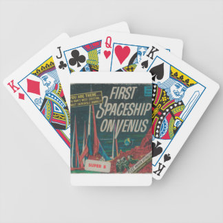 First Spaceship on Venus Vintage Scifi Film Bicycle Playing Cards